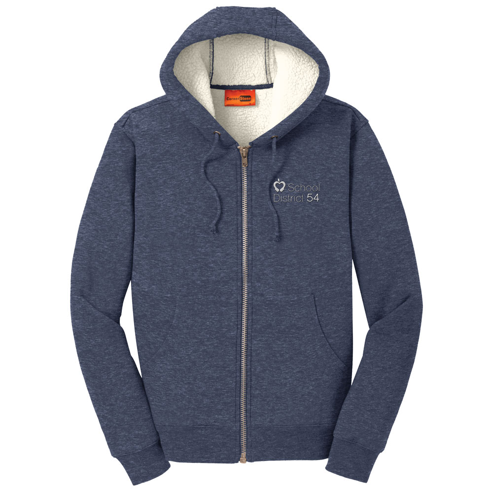 CornerStone® Heavyweight Sherpa-Lined Hooded Fleece Jacket | SD54